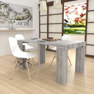 Extensible console Kilika in laminated wood folding