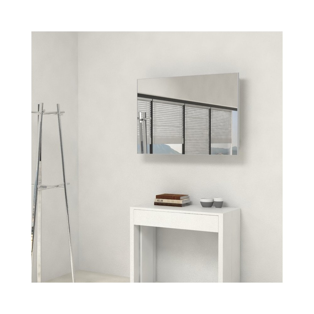 Mirror with extensions-rack for extendable console