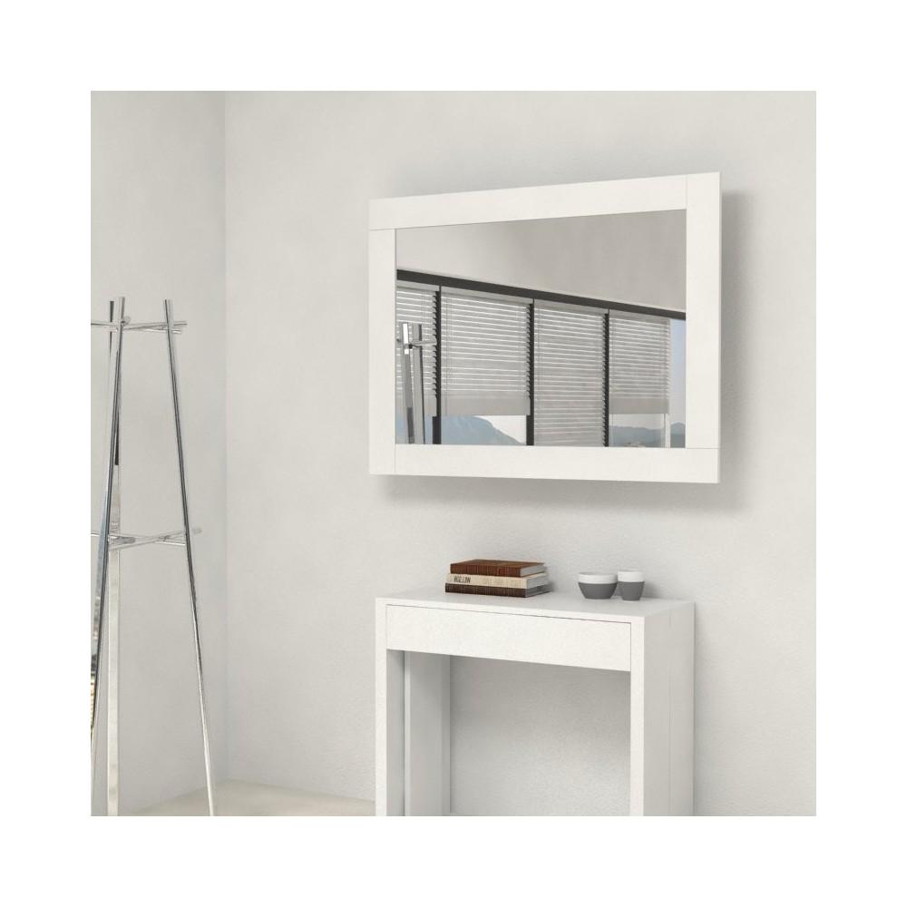 Miroir avec cadre porte extensions accessoire console extensible for Miroir extensible