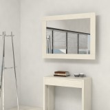 Mirror wooden frame with extensions-rack for console