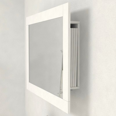 Miroir cadre avec porte-extensions pour console extensible