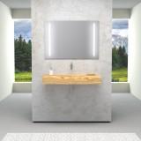 Mensola massello con lavabo ricavato dal pieno