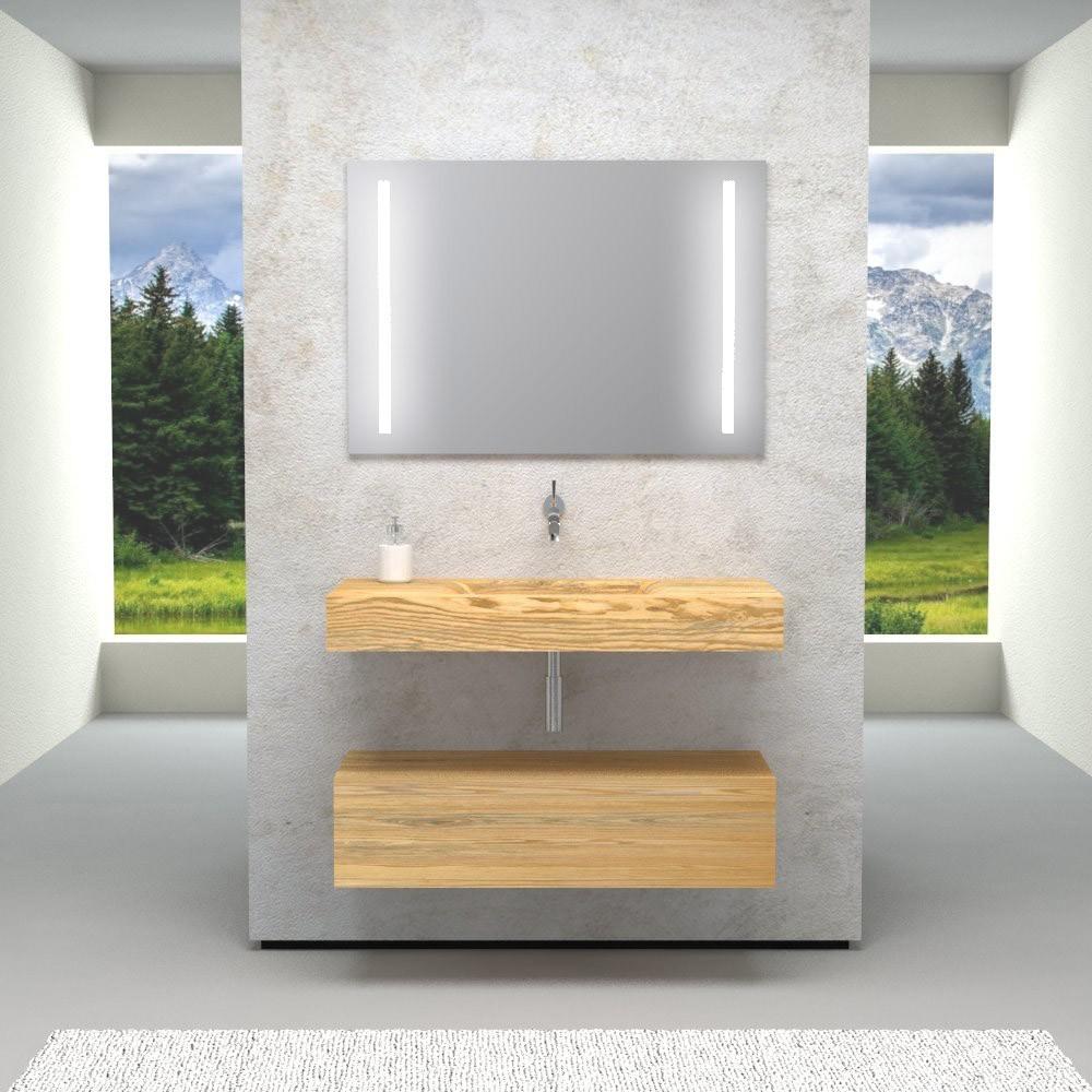 Mobili e arredo bagno in legno massello fuente mobile for Arredo bagno in legno