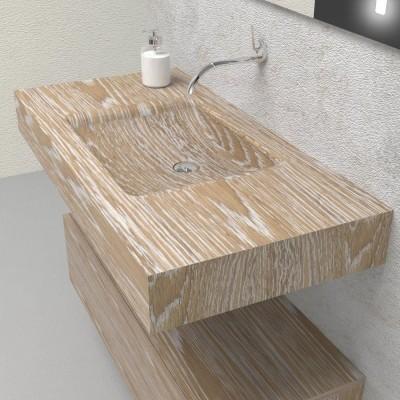 Fuente in legno massello - Mobile completo arredo bagno