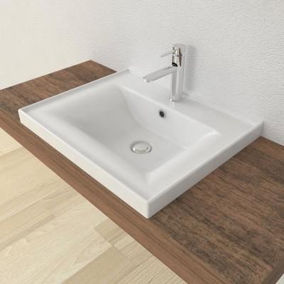 Lavabo encastré salle de bain Sava 55
