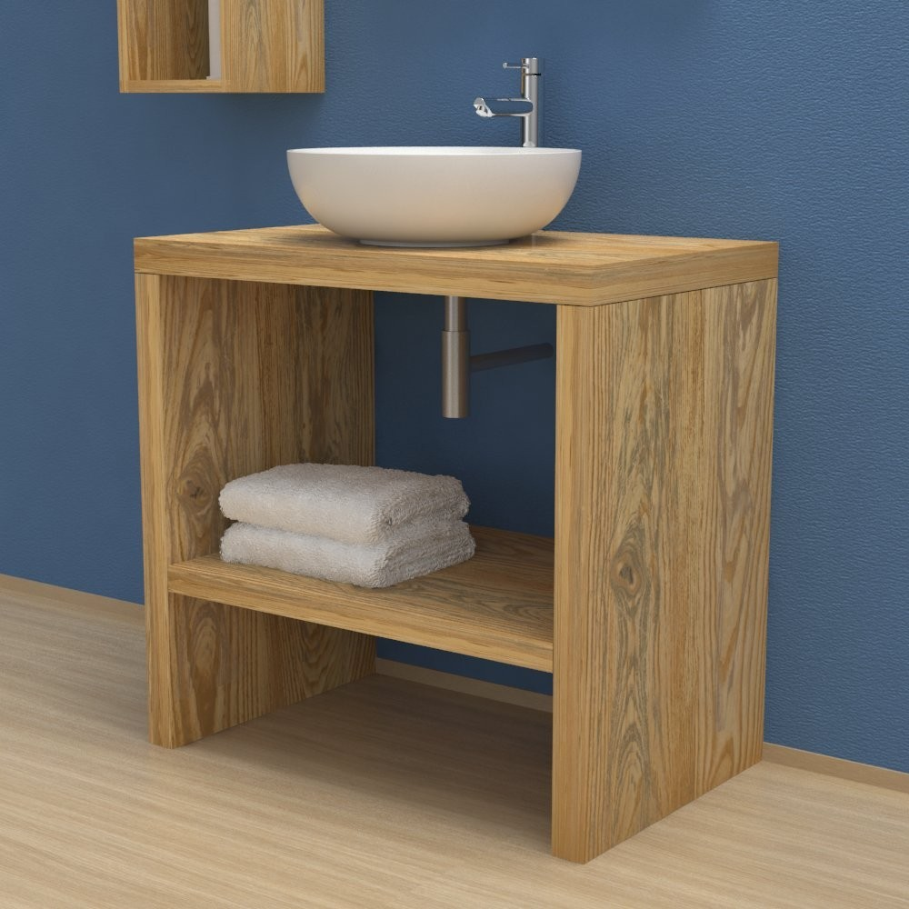 super popular 8c727 cd826 Solid wood washbasin Cabinet with storage compartment