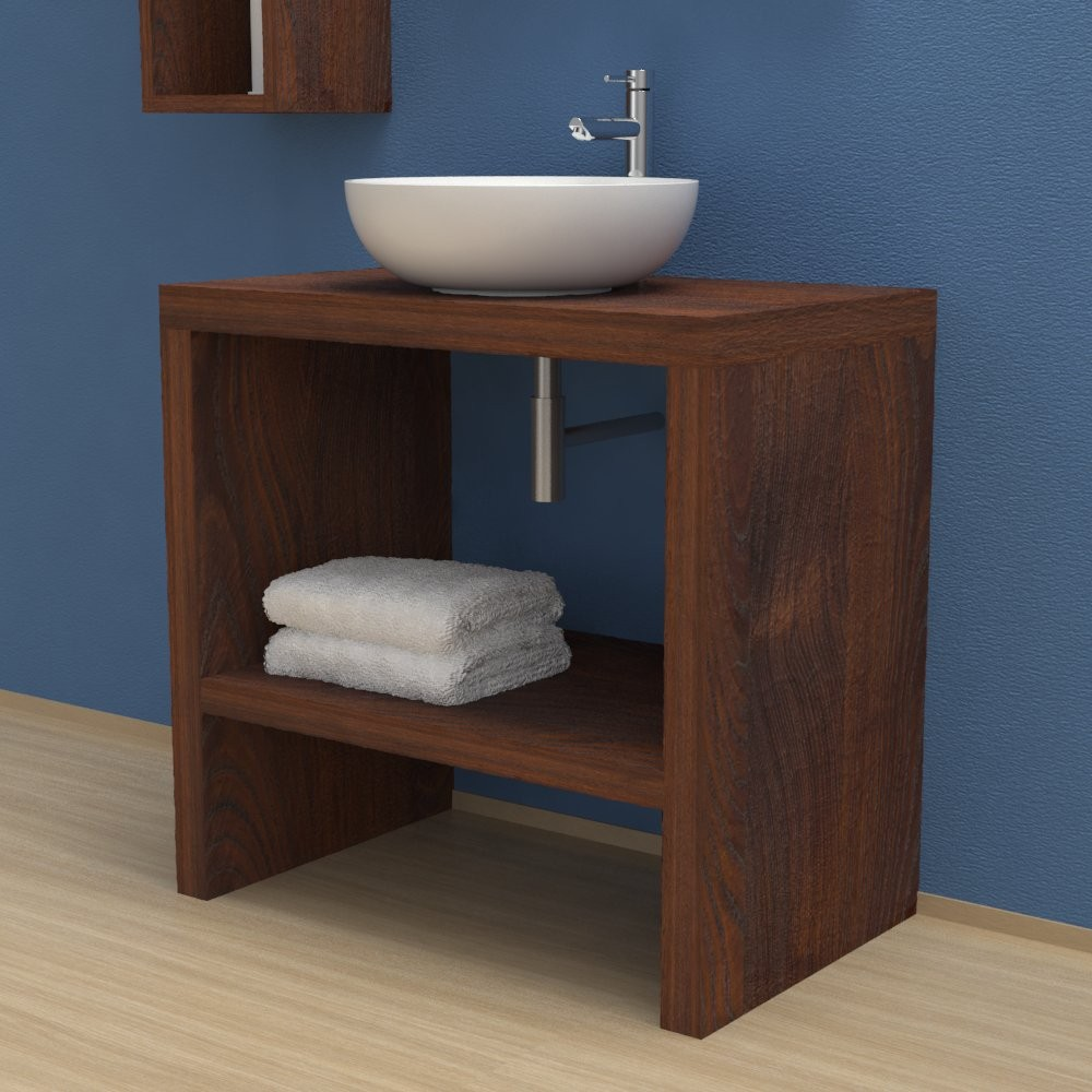 reputable site d2d12 1825e Solid wood Bathroom furniture - Washbasin cabinet with ...