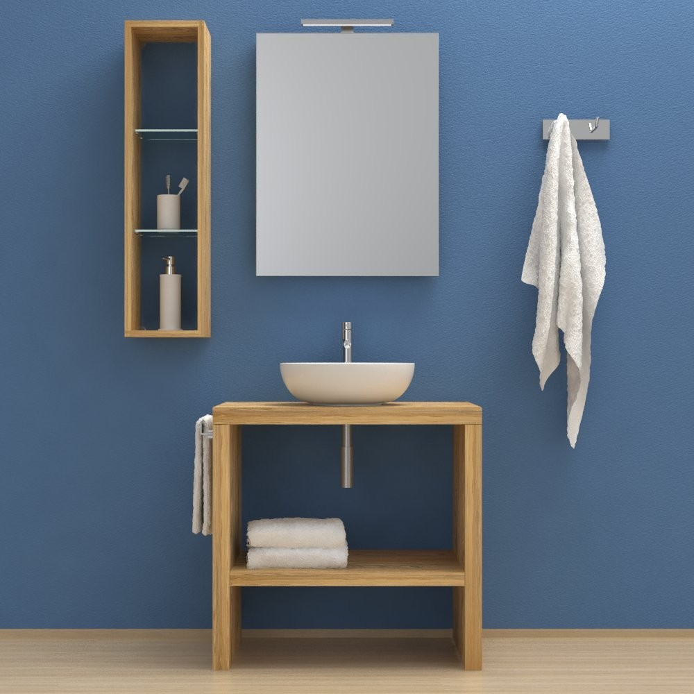 Mobili e arredo bagno in legno estoril mobile completo - Mobile bagno legno massello ...