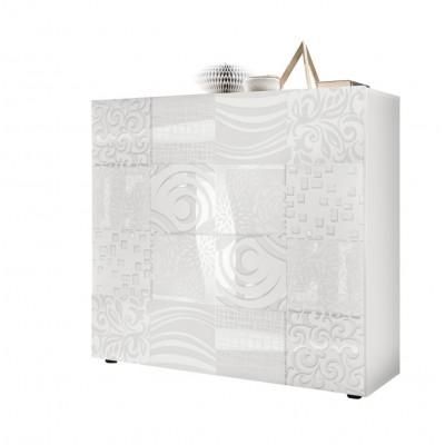 Unité de stockage 2 portes Takao blanc