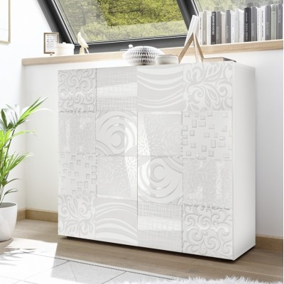 """Takao"" 2 door storage unit - white"