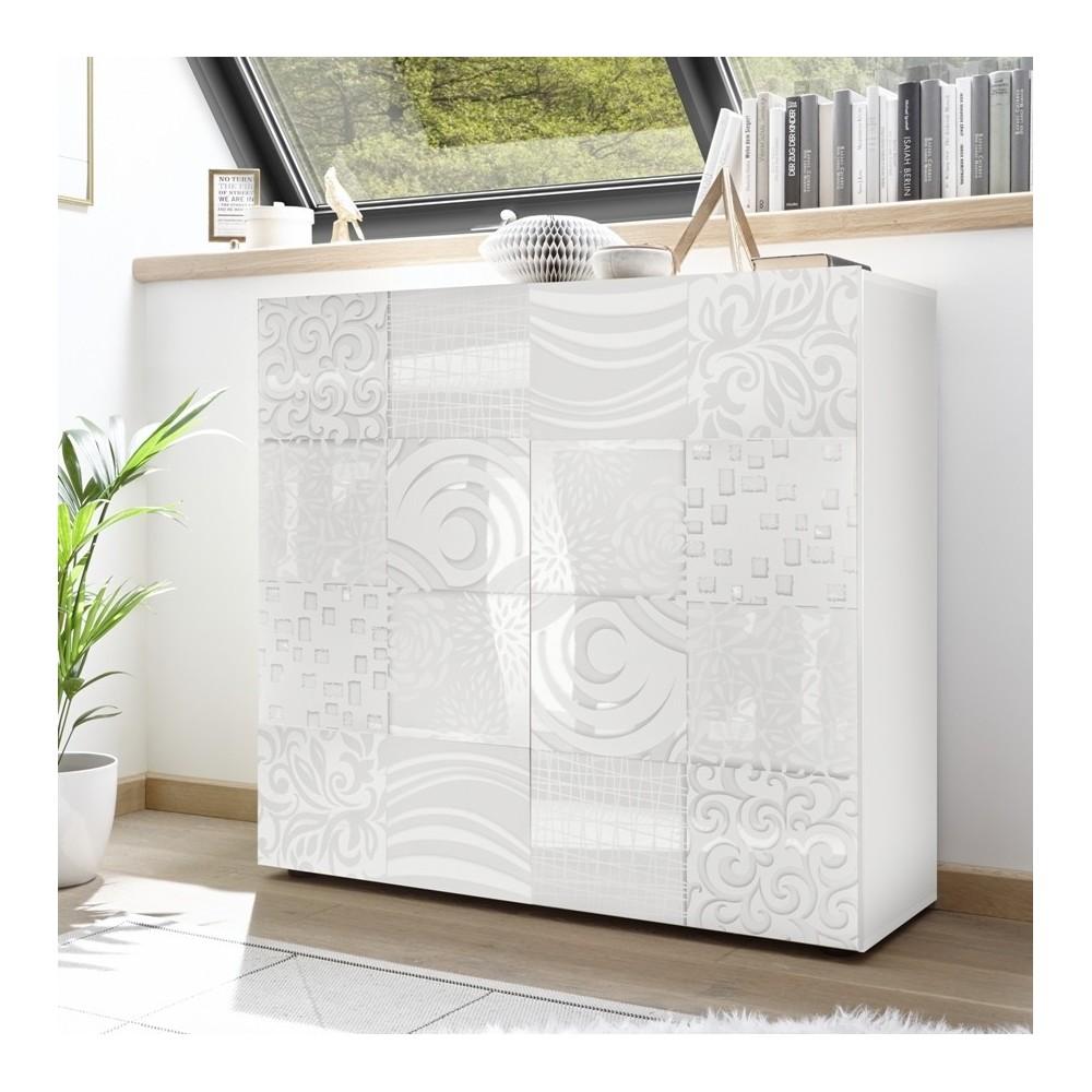 """Takao"" 2 door storage unit - white"