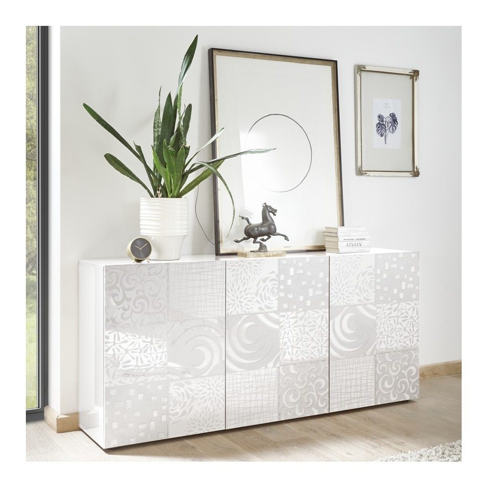 """Takao"" 3 door sideboard - white"