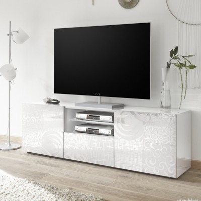Meuble TV 181 cm Takao blanc