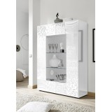 """""""Takao"""" sideboard with glass - white"""