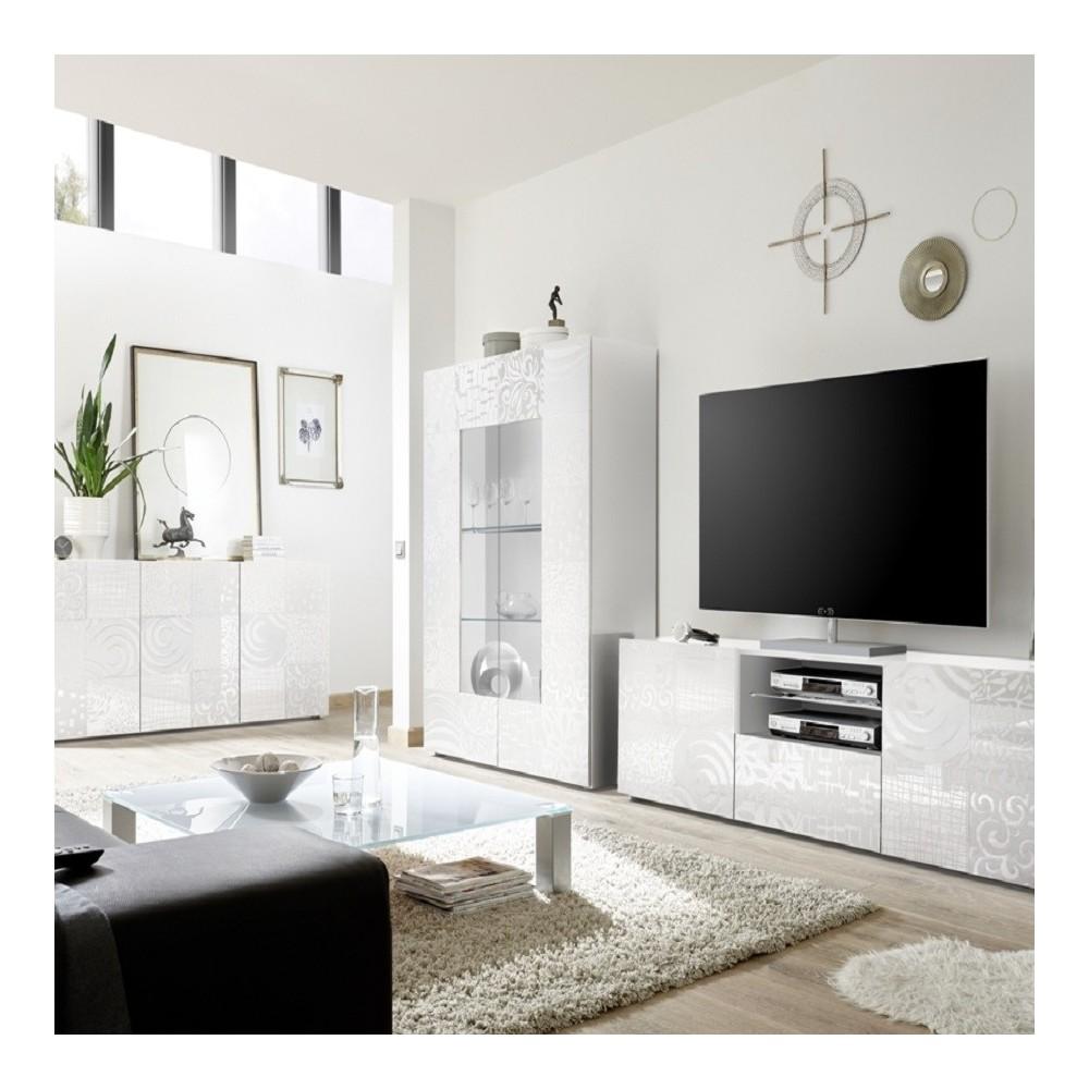 Set soggiorno Takao 3 bianco - Mobili soggiorno - Madie e contenitori