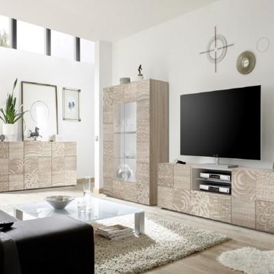 """Takao 3"" Complete living room set  - durmast"