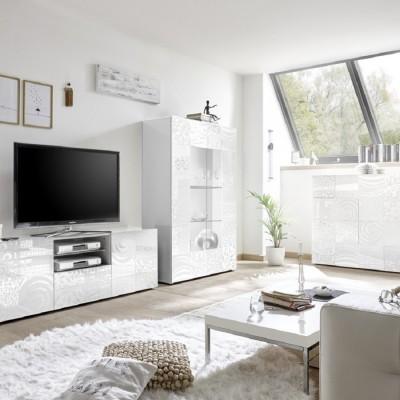 Set salon complet Takao 3 blanc