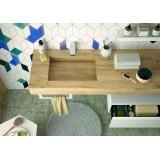 Mensola Stone lavabo integrato - Rovere Africa