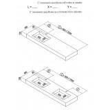 Mensola Stone lavabo integrato - Cemento