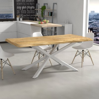 Hawaii Table in irregular edge solid wood