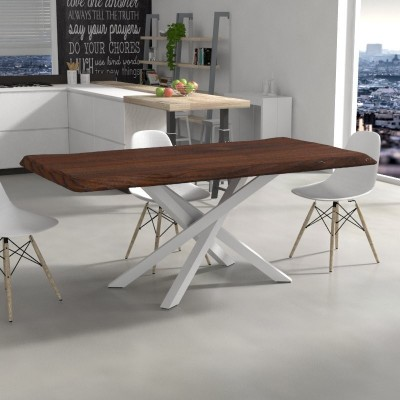 Polinesia Table in irregular edge solid wood
