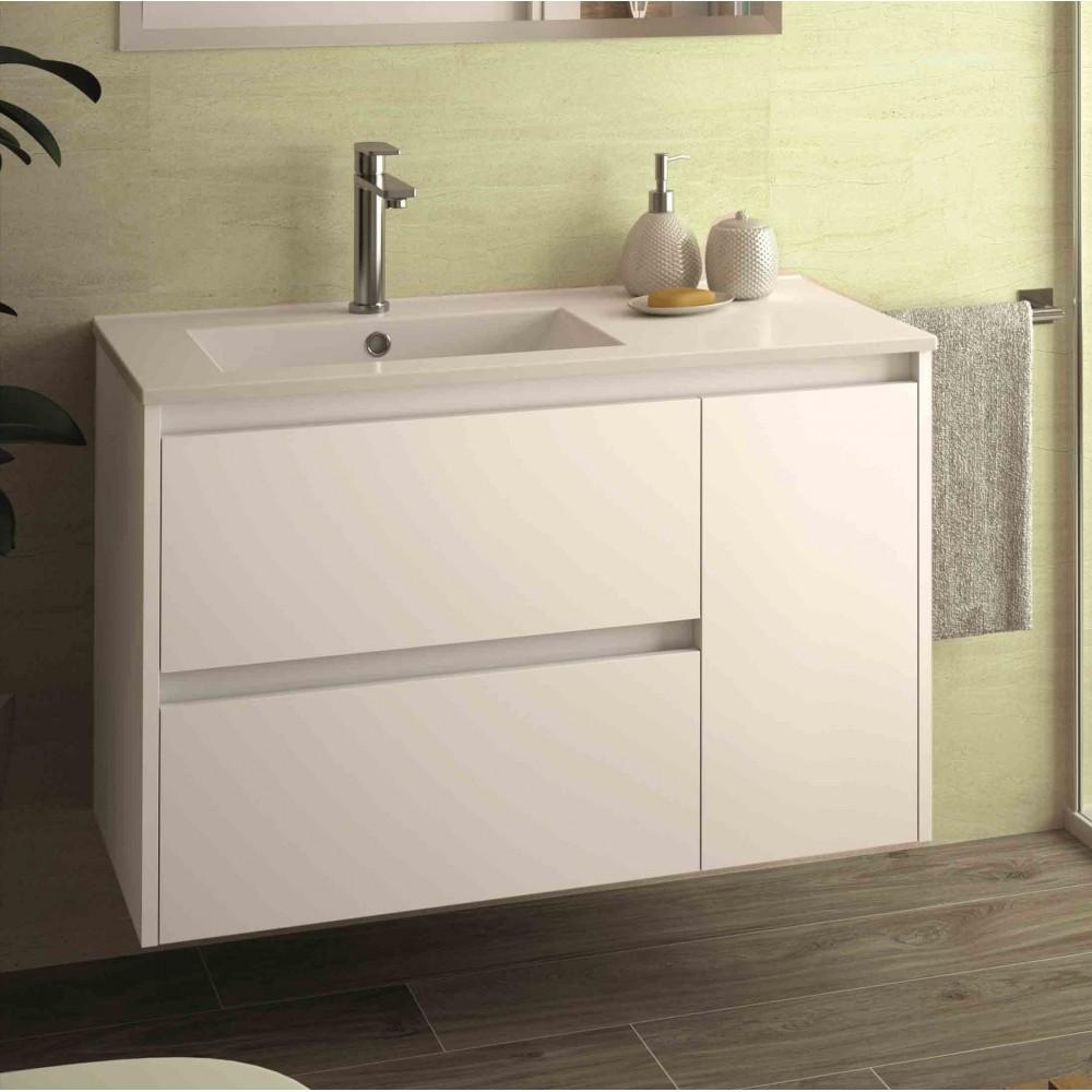 Mobili bagno - Arredo bagno - Mobile sospeso Egeo bianco
