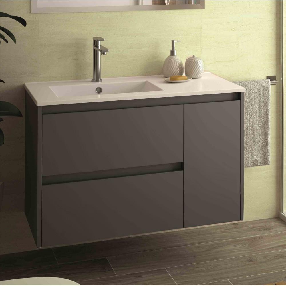 Mobili bagno - Arredo bagno - Mobile sospeso Egeo grigio opaco