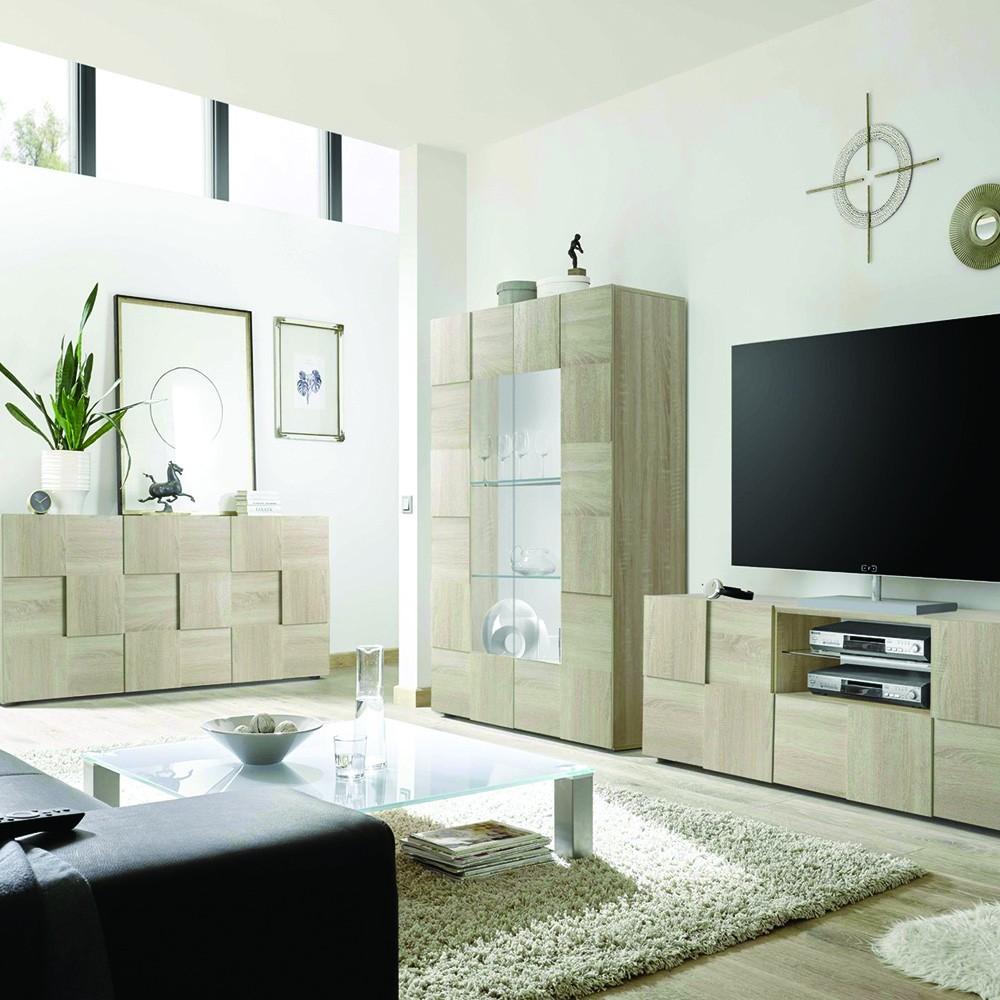 Set soggiorno Scacco rovere - Mobili soggiorno - Madie e contenitori