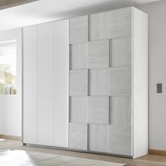 Apple wardrobe white / grey