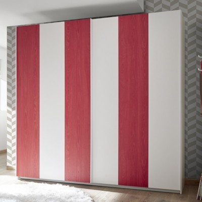 Armoire Juice blanc / rouge