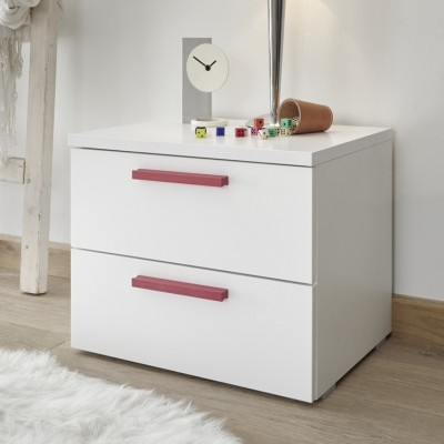 Juice complete bedroom white / red