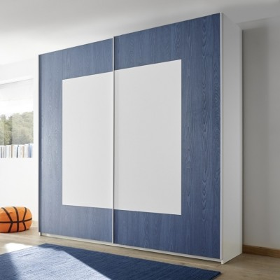 Sky wardrobe white / blue