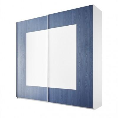Armoire Sky blanc / bleu