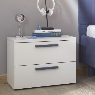 Sky bedside table white / blue