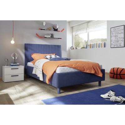 Sky bedside table white / blue