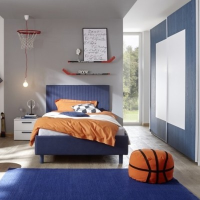 Chambre à coucher Sky blanc / bleu