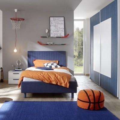 Sky complete bedroom white / blue