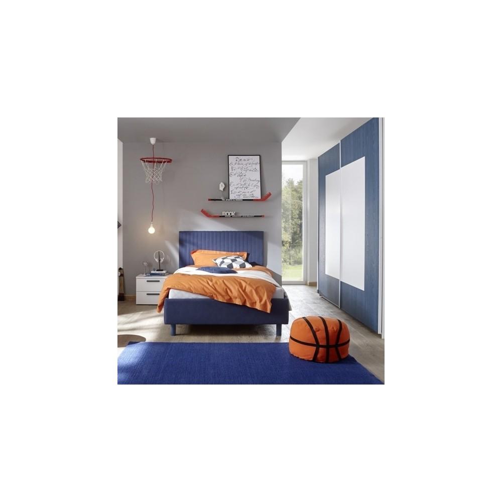 Meubles de chambre - Chambre à coucher Sky blanc bleu