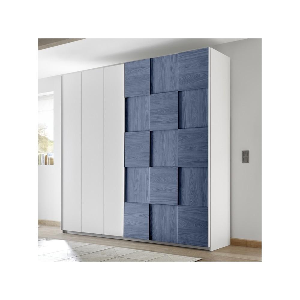 Bedroom Furniture Apple Wardrobe White Blue