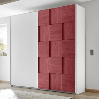 Armoire Apple blanc / rouge