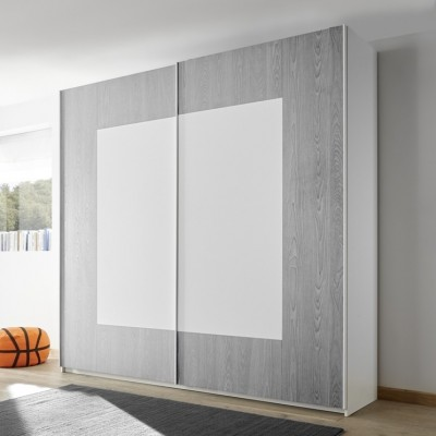 Sky wardrobe white / grey