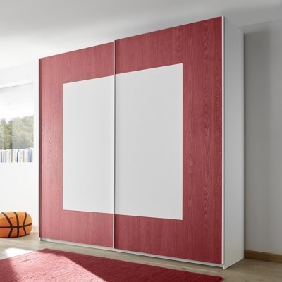 Sky wardrobe white / red