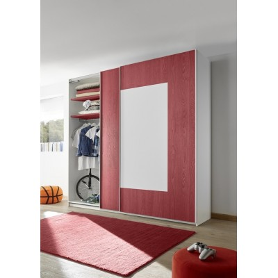 Sky wardrobe white / red
