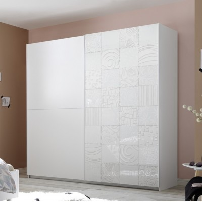 Berlino wardrobe white