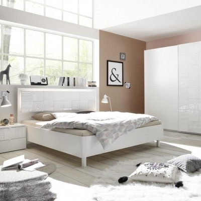 Berlino complete bedroom white