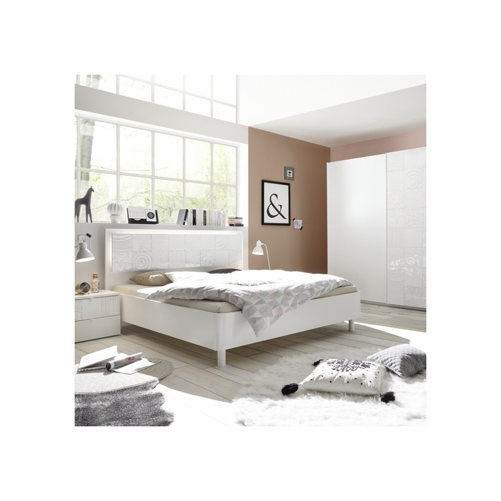 Berlino complete bedroom white