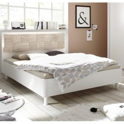 Berlino bed white / durmast