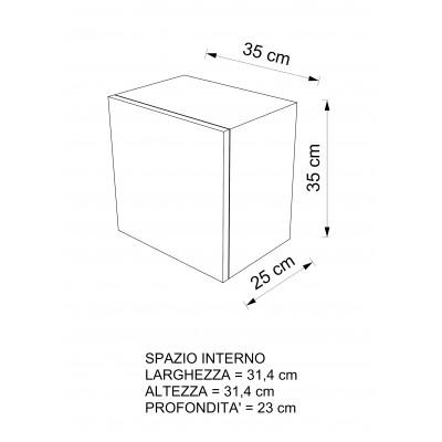 Cubi da parete con anta