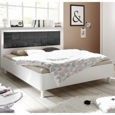 Berlino bed white / black