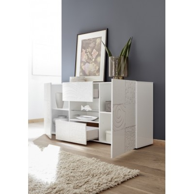 """Takao"" 2 doors / 2 drawers sideboard - white"